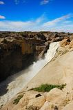 Augrabies Falls (South Africa). The Augrabies Falls National Park covers an area of 820 km2 and stretches along the Orange River. The waterfall is approx. 60 royalty free stock image