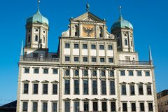 Augsbourg Townhall (Rathaus) Photo libre de droits