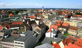 Augsburg. Panoramic view over the city of Augsburg, Bavaria Stock Images
