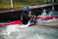 Augsburg Alemanha, o 28 de março de 2017, treinando para os campeonatos em Ottawa 2017 Imagem de Stock