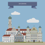 Augsburg, city in Germany Stock Image