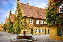 Augsburg: Fuggerei - The World Oldest Social Housing. Bavaria, Germany Royalty Free Stock Photos