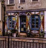 Urban glasses shop in Augsburg. royalty free stock photo