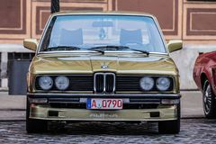 BMW Alpina oldtimer car. Augsburg, Germany - October 1, 2017: BMW Alpina oldtimer car at the Fuggerstadt Classic 2017 Oldtimer Rallye on October 1, 2017 in Royalty Free Stock Images