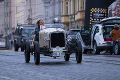 Ford oldtimer car. Augsburg, Germany - October 1, 2017: Ford oldtimer car at the Fuggerstadt Classic 2017 Oldtimer Rallye on October 1, 2017 in Augsburg, Germany Royalty Free Stock Photography