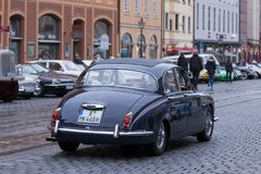 Jaguar 340 oldtimer car. Augsburg, Germany - October 1, 2017: Jaguar 340 oldtimer car at the Fuggerstadt Classic 2017 Oldtimer Rallye on October 1, 2017 in Royalty Free Stock Photography