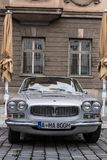 Maserati oldtimer car. Augsburg, Germany - October 1, 2017: Maserati oldtimer car at the Fuggerstadt Classic 2017 Oldtimer Rallye on October 1, 2017 in Augsburg Stock Image