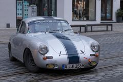Porsche 356 90 oldtimer car Stock Photo