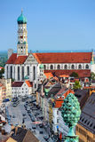 Augsburg Germany. Augsburg, Germany old town skyline stock images