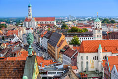 Augsburg Germany. Augsburg, Germany old town skyline stock photos