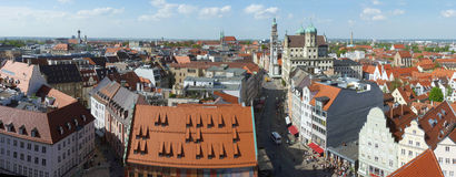 Augsburg, Germany 1. Panorama view of the historical town royalty free stock photos