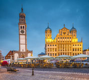 Augsburg Germany. Augsburg, Germany townscape at Rathausplatz Plaza royalty free stock photography