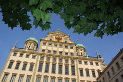 augsburg korridortown Arkivbilder