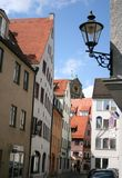 Augsburg Old Town. It is always worth it to stroll along the narrow streets of the old town in Augsburg, Germany Royalty Free Stock Photography