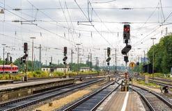 Augsburg railway station - Germany, Bavaria Stock Photo
