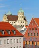 augsburg stadshus Arkivbild