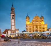 Augsburg Tyskland royaltyfri fotografi