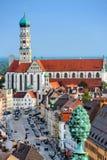 Augsburg Tyskland arkivbilder