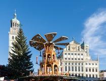 Augsburski boże narodzenie rynek Obraz Royalty Free