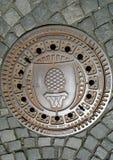 Augsburski manhole fotografia royalty free