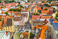Augsburski, Niemcy pejzaż miejski fotografia royalty free
