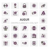 Augur Crypto Currency icons set. For web design and application interface, also useful for infographics. Vector illustration Royalty Free Stock Images