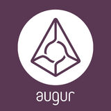 Augur REP blockchain cripto currency vector logo. Augur REP open-source cripto currency on blockchain technology vector, icon, sign for print and web Royalty Free Stock Photos