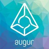 Augur Repräsentanten-blockchain cripto Währungs-Vektorlogo Stockfoto