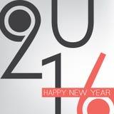 Auguri - retro cartolina d'auguri del buon anno di stile o fondo astratta, modello creativo di progettazione - 2016 Immagini Stock Libere da Diritti
