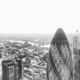 Augurk op de Horizon van Londen Stock Foto's