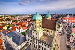 Augusburg, Niemcy linia horyzontu obraz stock