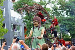 Free August 2018, Giants Girl Marionette Puppet Show, Leeuwarden, Netherlands Royalty Free Stock Photo - 124180565