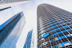 Free August 21, 2019 San Francisco / CA / USA - Salesforce Tower, The Company`s New Corporate HQ; Two Residential Buildings Millenniu Stock Images - 158636894
