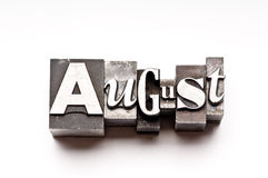 August Royalty Free Stock Photos