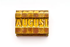 August Royalty Free Stock Images