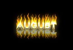 August auf Feuer Lizenzfreie Stockfotos