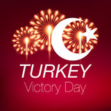 august bayrami Victory Day Turkey för zafer 30 royaltyfri illustrationer