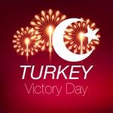 august bayrami Victory Day Turkey för zafer 30 Fotografering för Bildbyråer