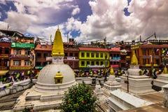 18. August 2014 - Boudhanath-Tempel in Kathmandu, Nepal Lizenzfreie Stockfotografie