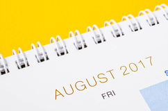 August Calendar Header Photos libres de droits