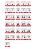 August Calendar Icons Royalty Free Stock Photo