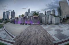 29. August 2014 Charlotte, NC - Ansicht von Charlotte-Skylinen an Ni Stockfotos