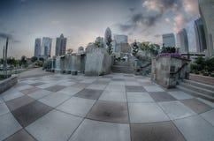 29. August 2014 Charlotte, NC - Ansicht von Charlotte-Skylinen an Ni Stockfoto