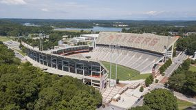Aerial View Of Frank Howard Field At Clemson Memorial Stadium Stock Photos