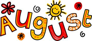 August Clip Art stock illustrationer