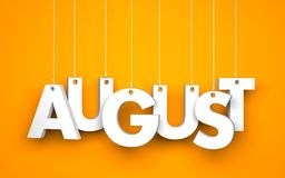 August - 3d word Royalty Free Stock Photo