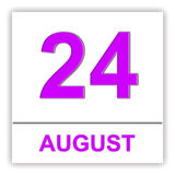 August 24. Day on the calendar. Royalty Free Stock Photo