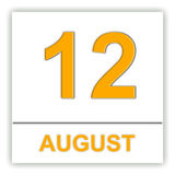 August 12. Day on the calendar. Stock Image
