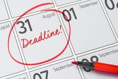 August 31. Deadline written on a calendar - August 31 Stock Image
