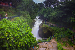 20. August 2014 - Devi-` s Fallwasserfall in Pokhara, Nepal Lizenzfreie Stockbilder